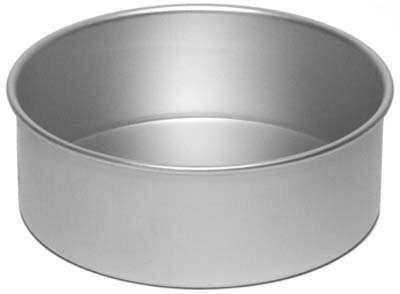 Alan Silverwood - 8x3 inch Round Cake Tin with Solid Base.