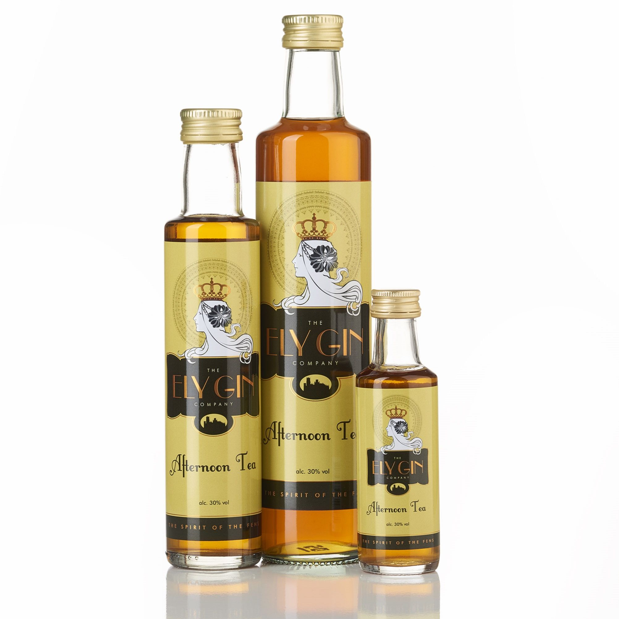 Ely Gin with Afternoon Tea, Gift-wrapping: neutral gift-wrap & tag, Bottle size: 500ml bottle
