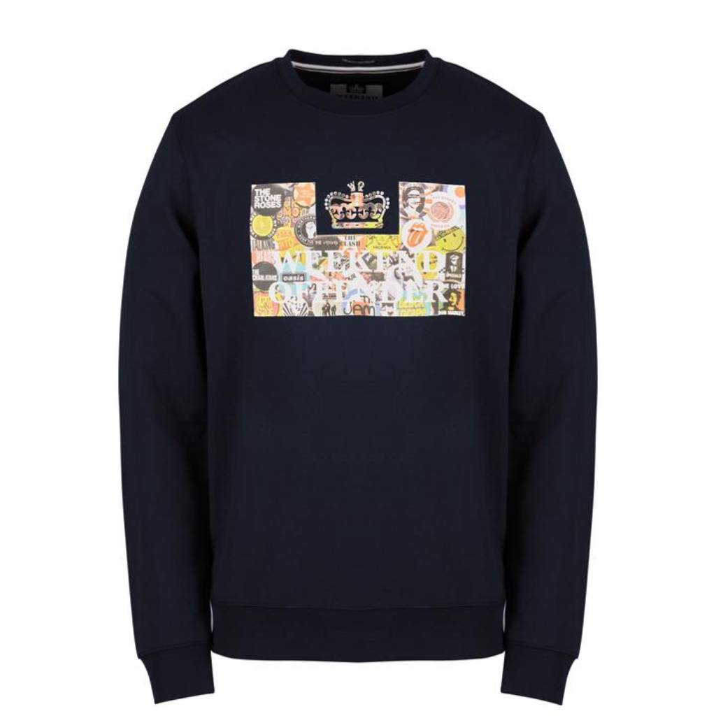 Weekend Offender Badges Sweat - Navy Large