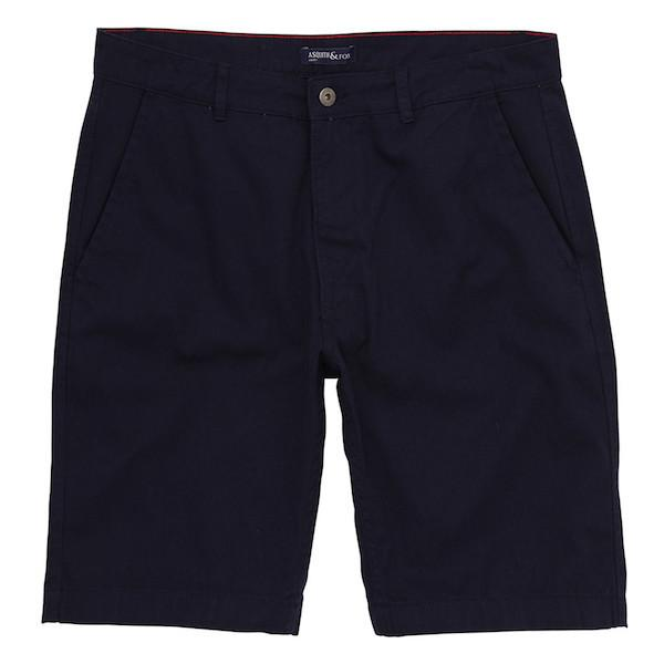 Asquith & Fox Chino Shorts - Navy 36'/Large