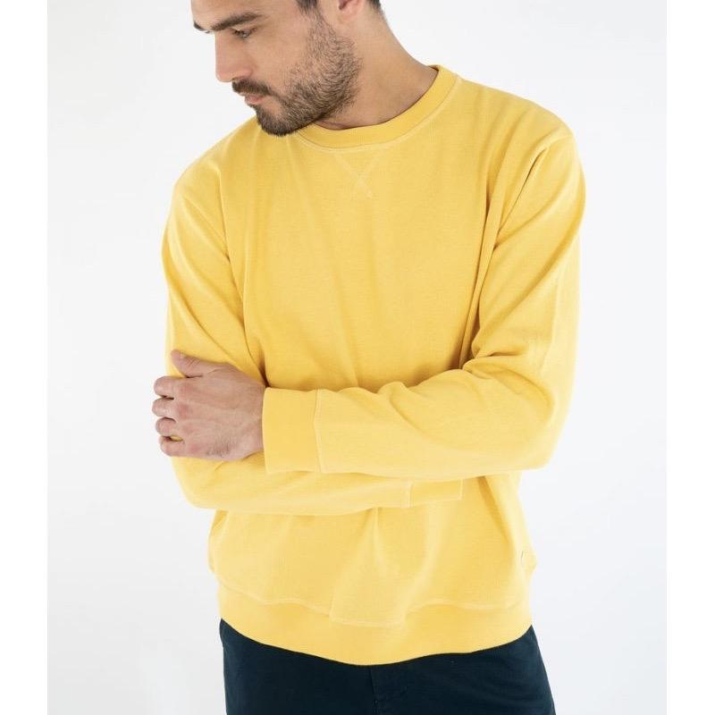 Armor Lux Heritage Crew Sweat - Yellow/Blondeur X-Large