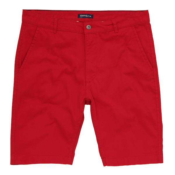 Asquith & Fox Chino Shorts - Red 34'/Medium