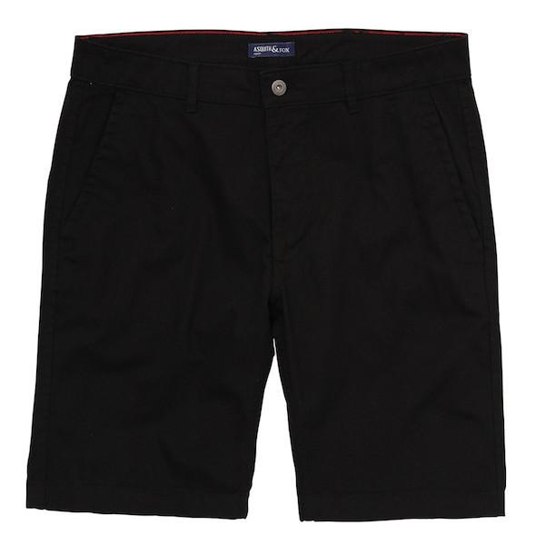 Asquith & Fox Chino Shorts - Black 38'/X-Large
