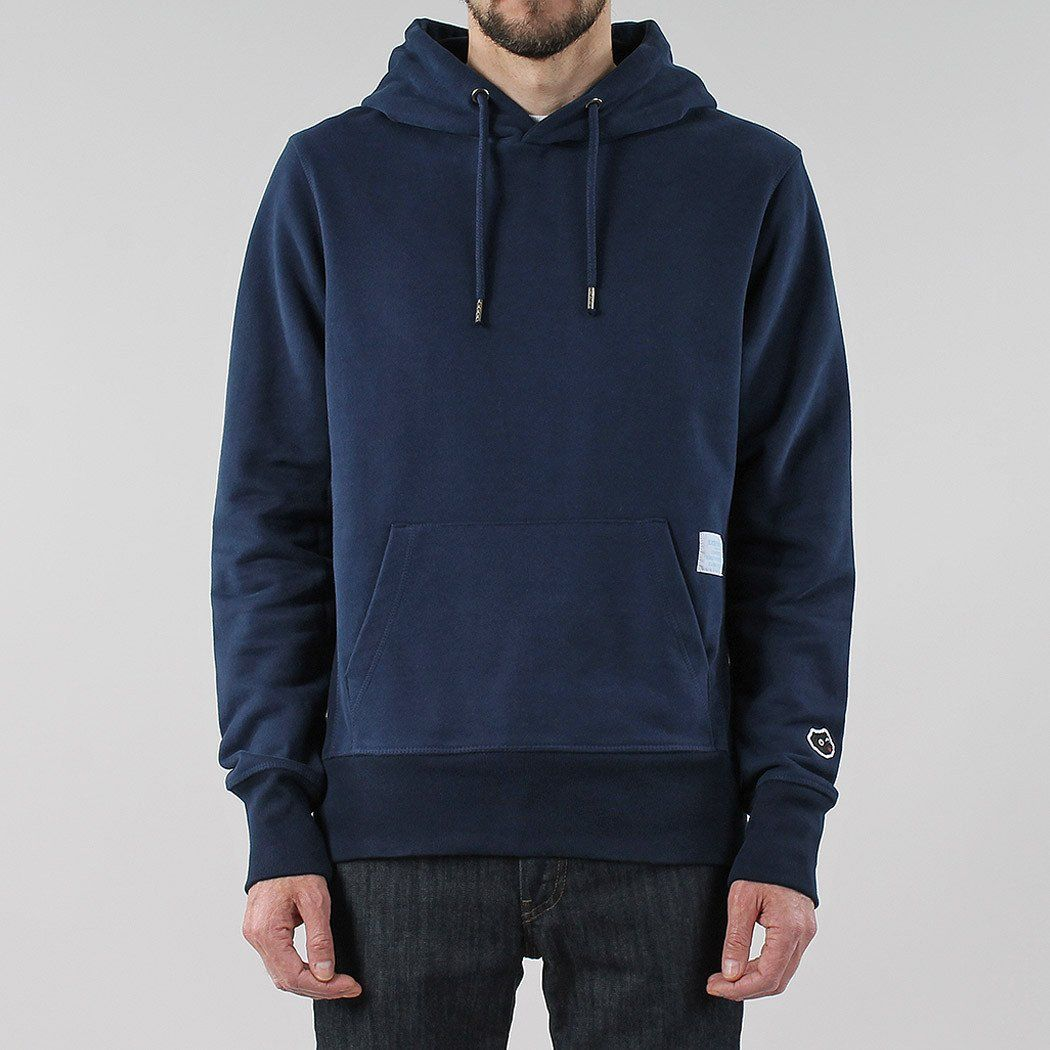 Black Pug Burly Hoodie - Navy Navy - Small