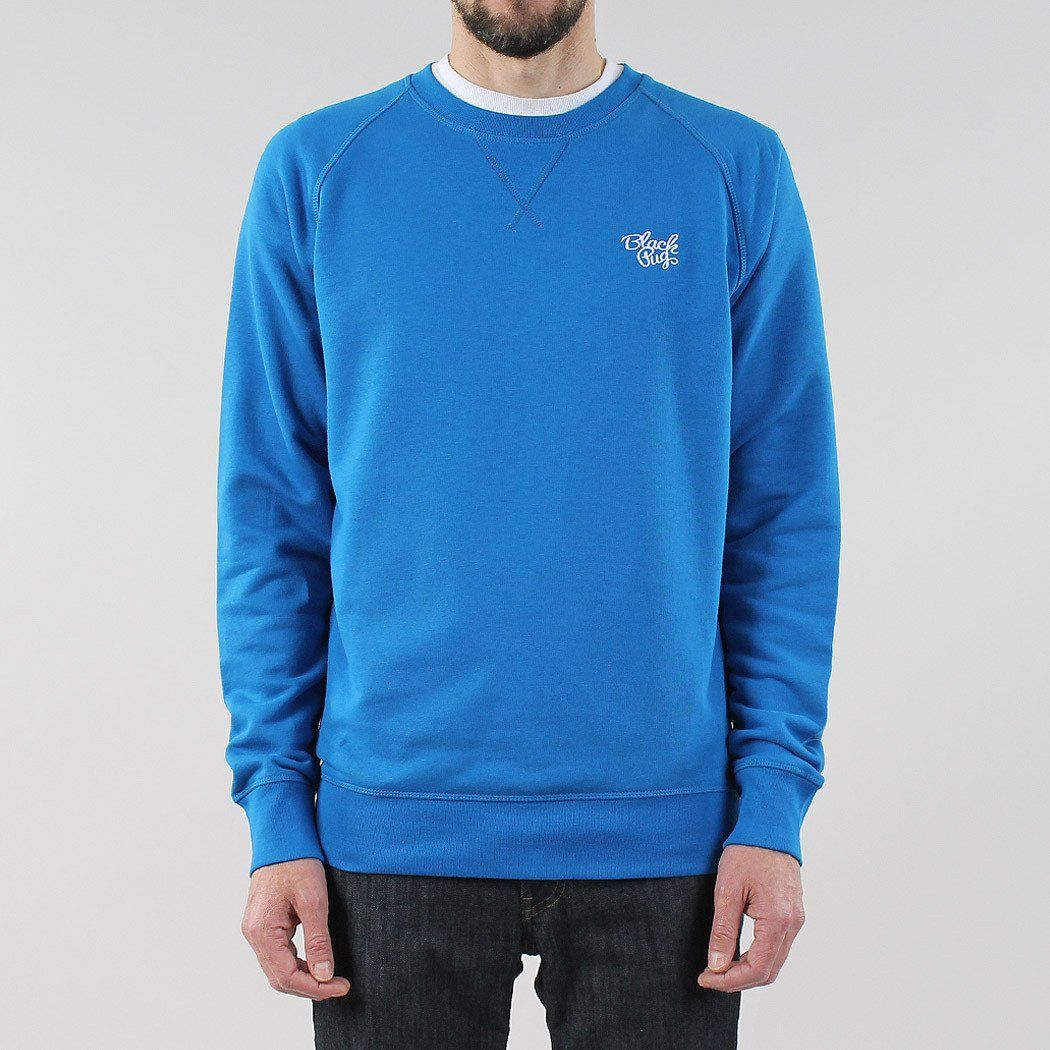 Black Pug Basic Crew Sweat - Royal Blue Royal Blue - Small