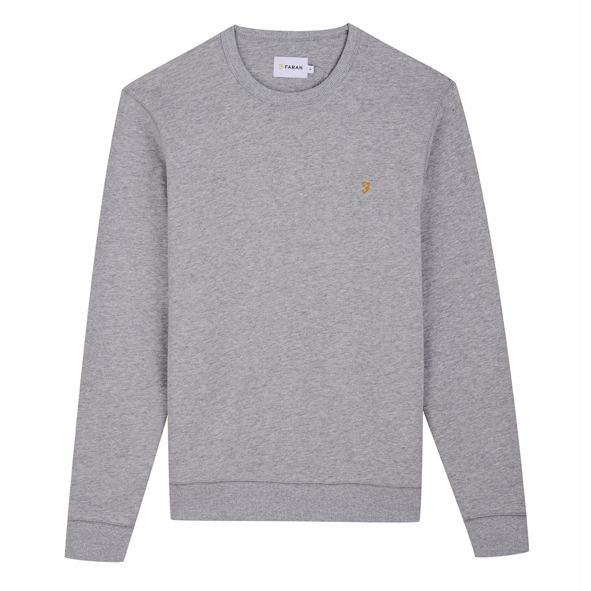 Farah Tim Crew Sweatshirt - Light Grey Marl Small