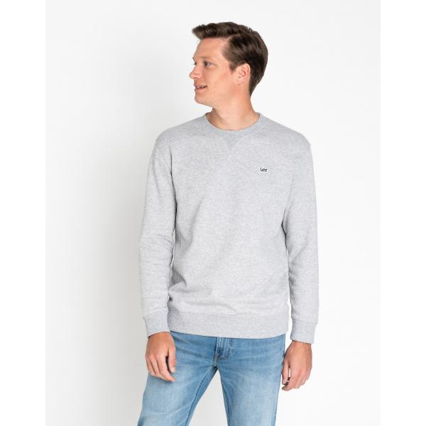 Lee Crew Neck Sweatshirt - Grey Marl Large