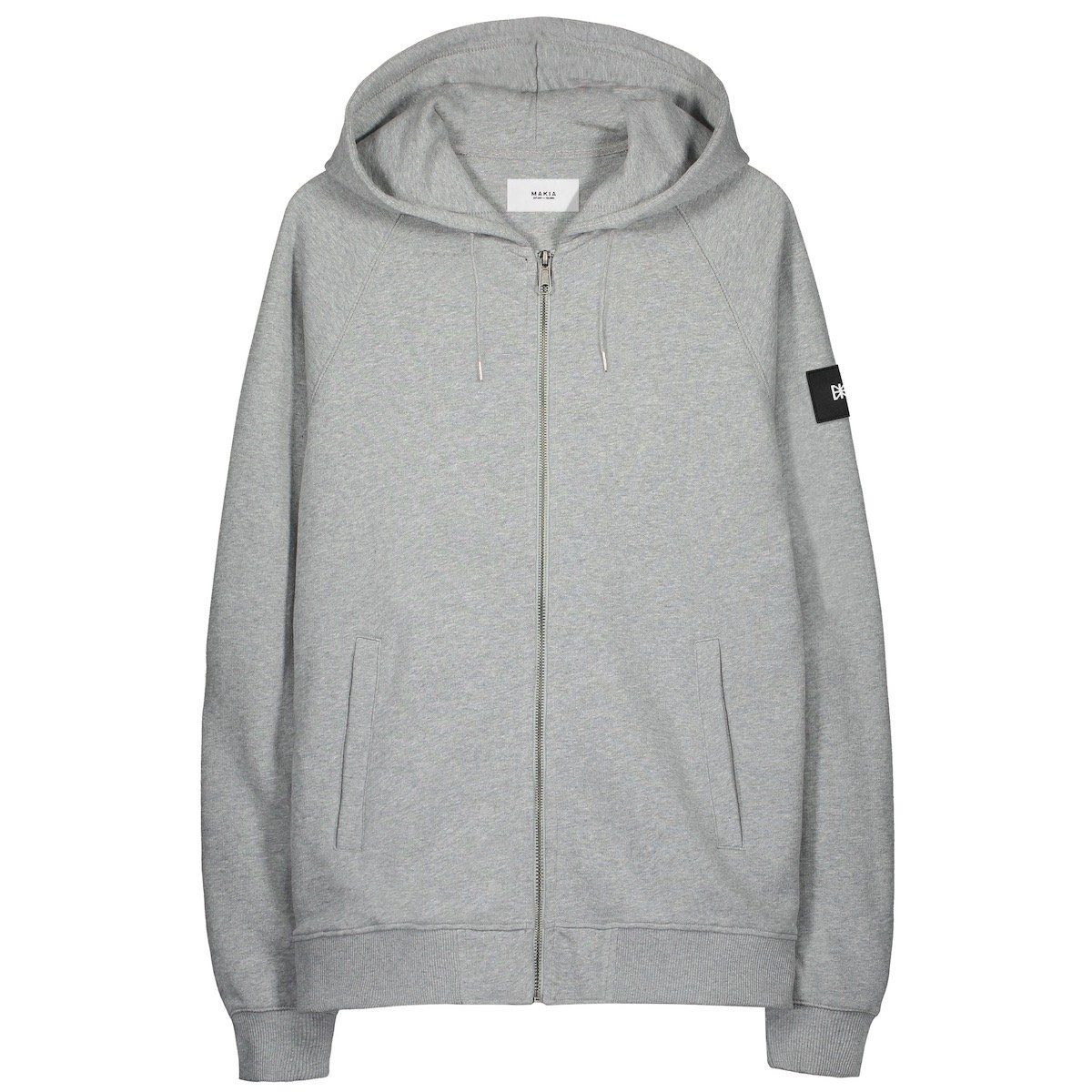 Makia Branch Hooded Sweat - Grey Small