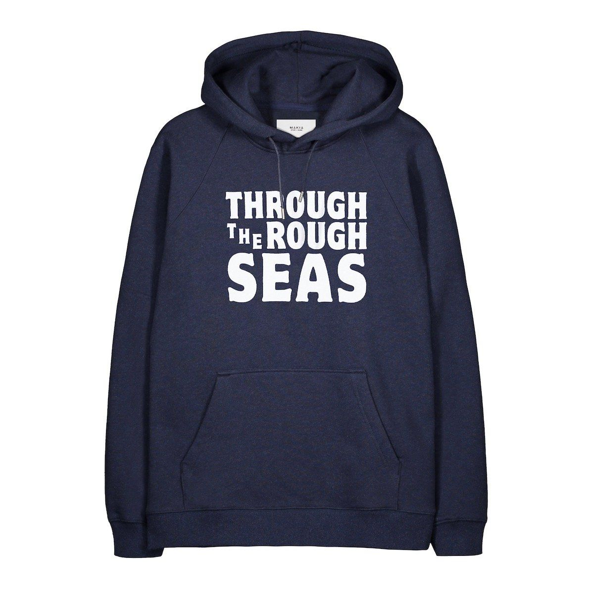 Makia Bold Hooded Sweat - Navy Medium