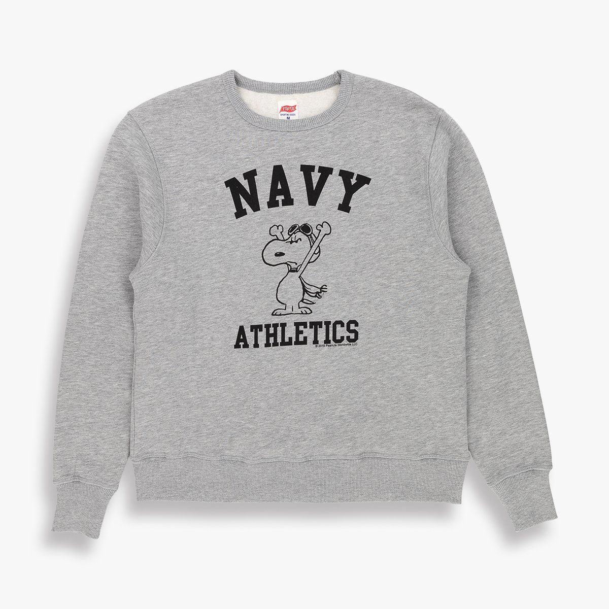 TSPTR Snoopy Navy Athletics Crew Sweat Medium