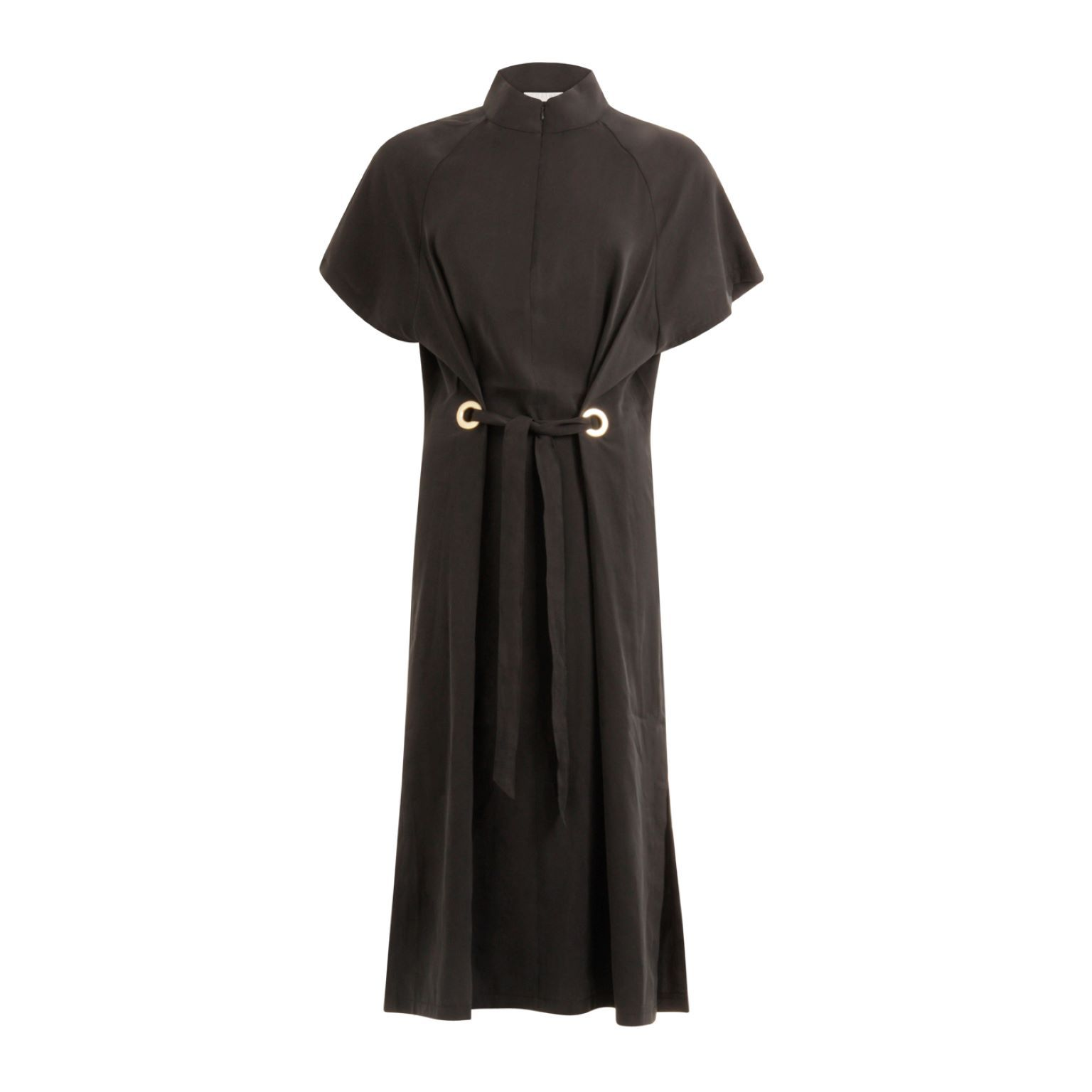 Coster Copenhagen Dress with ring detail and tieband (Black) 36