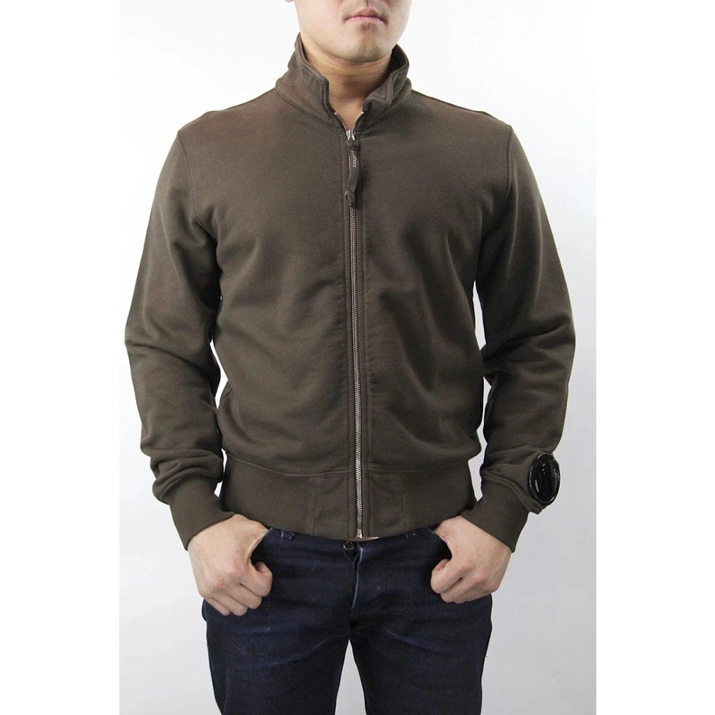 CP Company Felpa Aperta Con Zip Sweatshirt - Brown Small