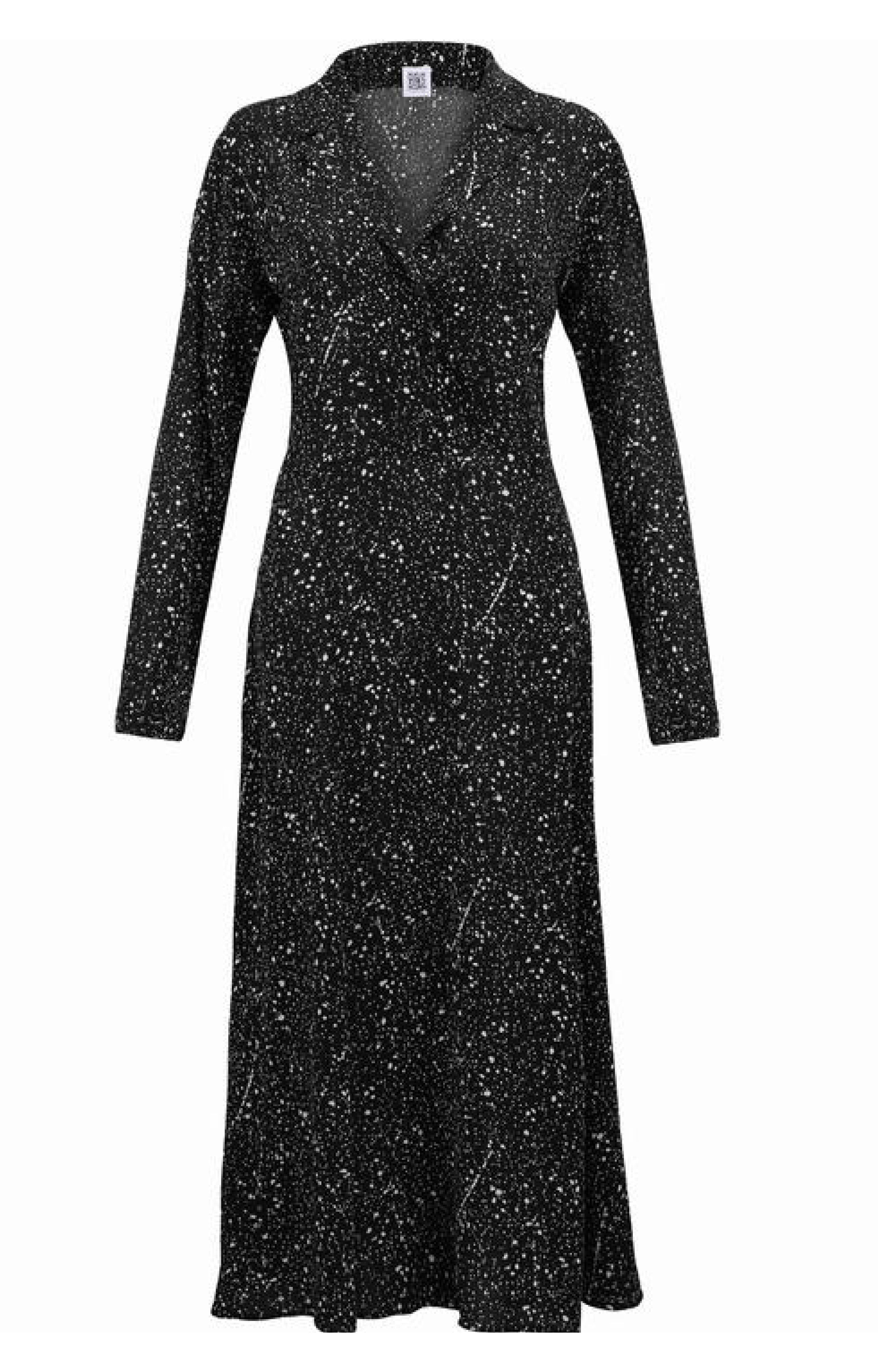 IVYY Black Star Dress Star Print - S