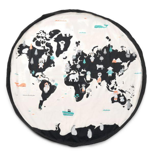 Play&Go: Toy Storage Bag and Play Mat - World Map