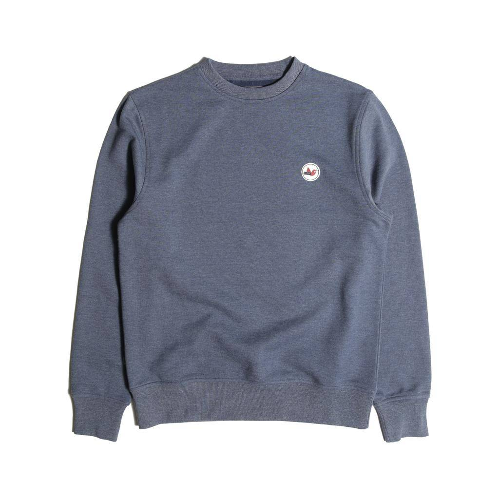 Peaceful Hooligan Tri Colour Badge Crew Sweatshirt - Navy Small