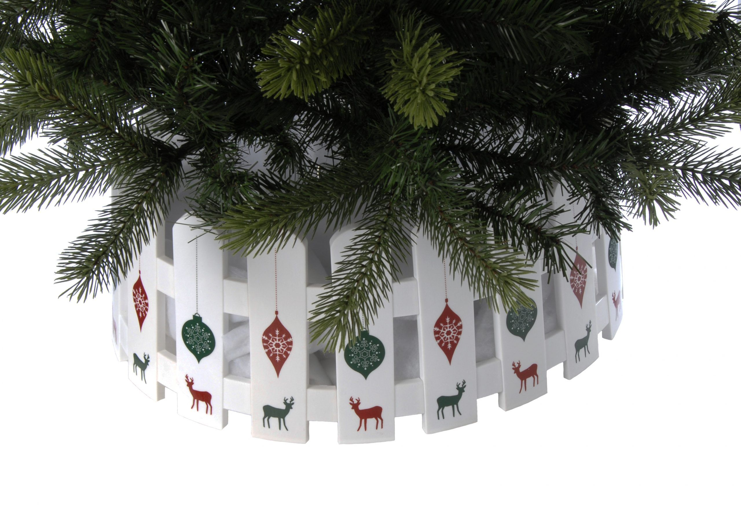 54cm x 22cm tree skirt with reindeer decoration