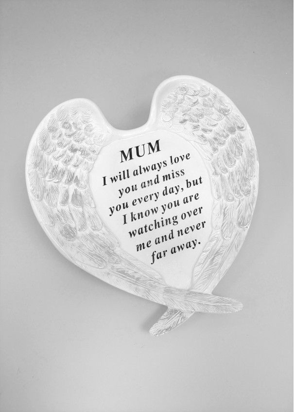 MEMORIAL- White and Silver Angel Wings -