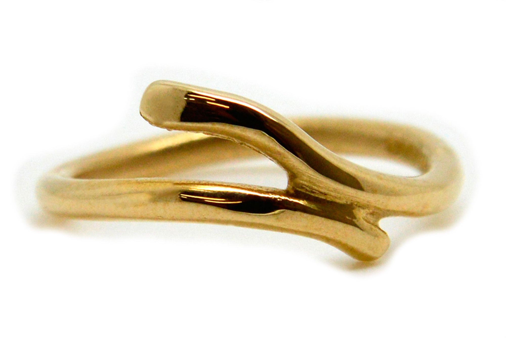 Dress Ring 9 Carat Gold. Perfect gift. Overlay Twist Ring. Contemporary Design