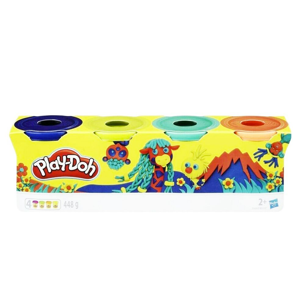 Play-Doh Clay Pots 4 Pack - 448g - E4867