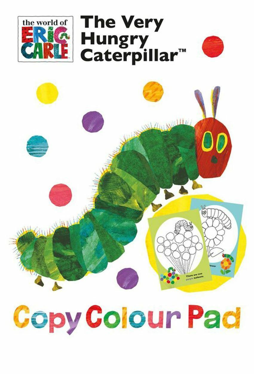 The Very Hungry Caterpillar - Childrens Copy Colour Pad - Colouring Activity Ages 3+