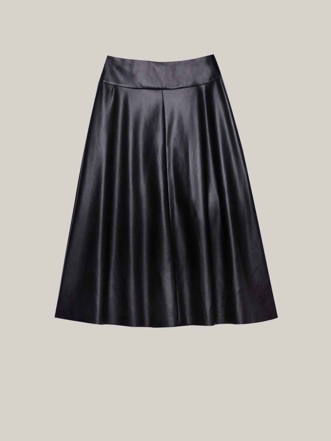 Caractere Faux Leather Flared Skirt 1233A000255N 40