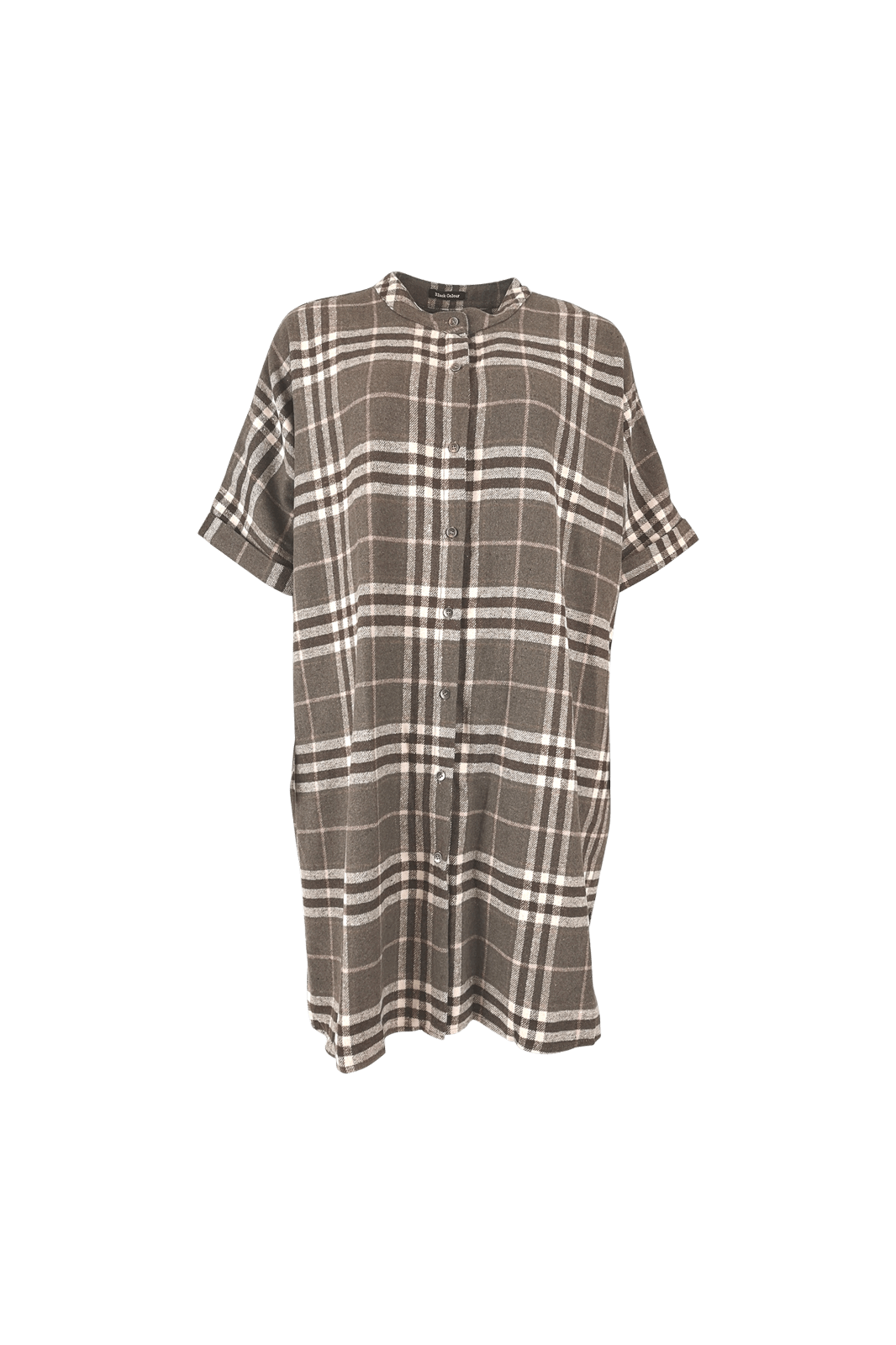 Black colour Isadora Checked Dress in Brown 3847