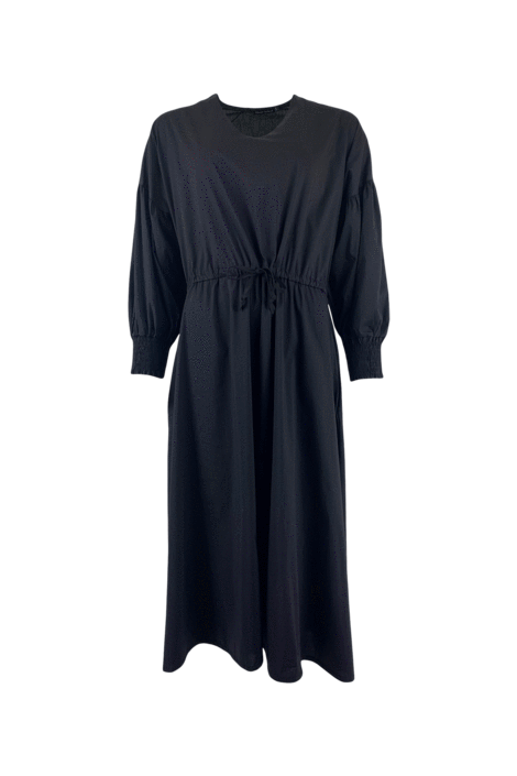 Black Colour Siri A Shape Dress in Black L/XL