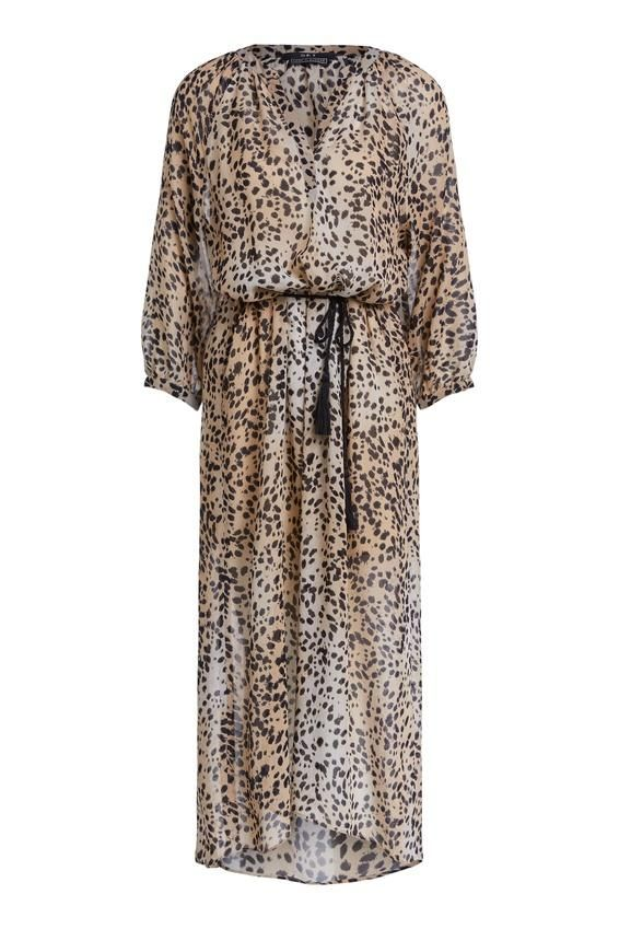 Set Cheetah print kaftan dress 69246 34