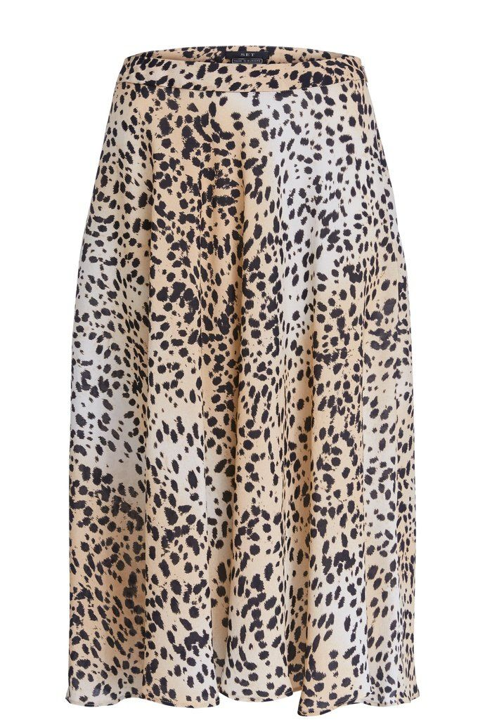 Set Back Cheetah print midi skirt 69383 40