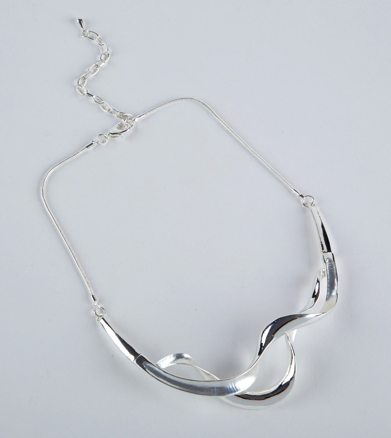 Twisted Bar Silver Necklace from Dante