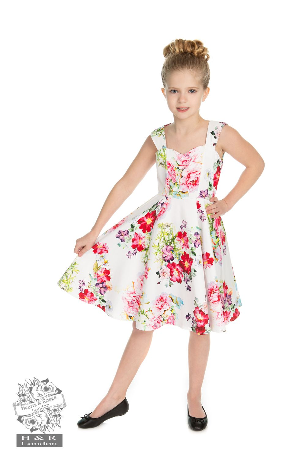 H&R Children's Rose Paradise Swing Dress 7-8 Years