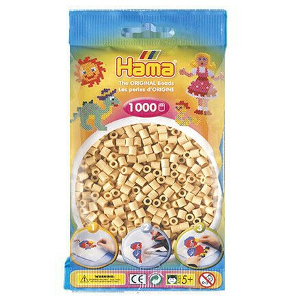 Hama Beads - Various Colours to Choose from - 1000 Per Bag - UK Supplier, Colour: Beige