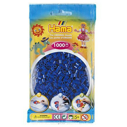 Hama Beads - Various Colours to Choose from - 1000 Per Bag - UK Supplier, Colour: Blue