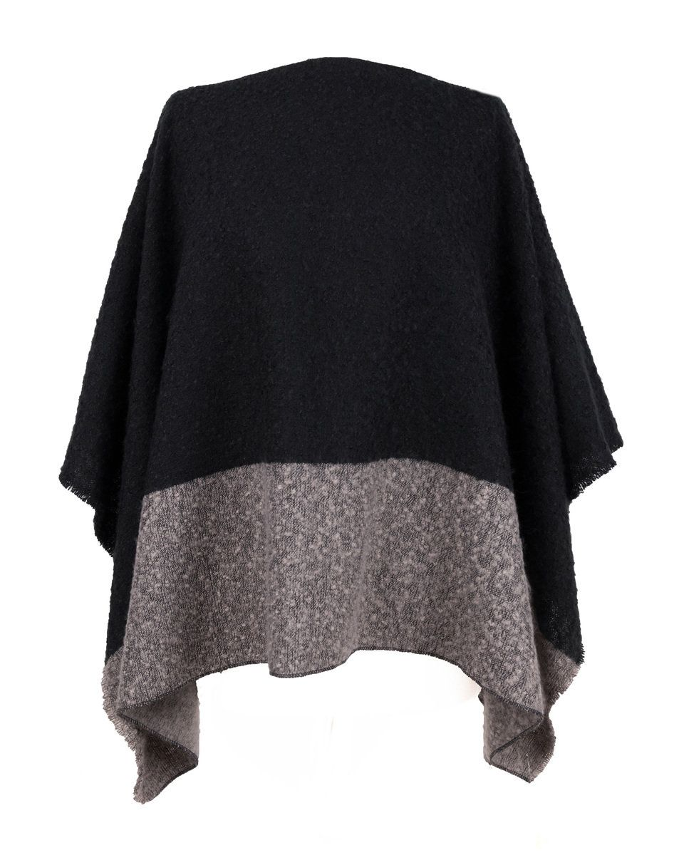 Powder Charcoal & Slate Mix Jess Poncho