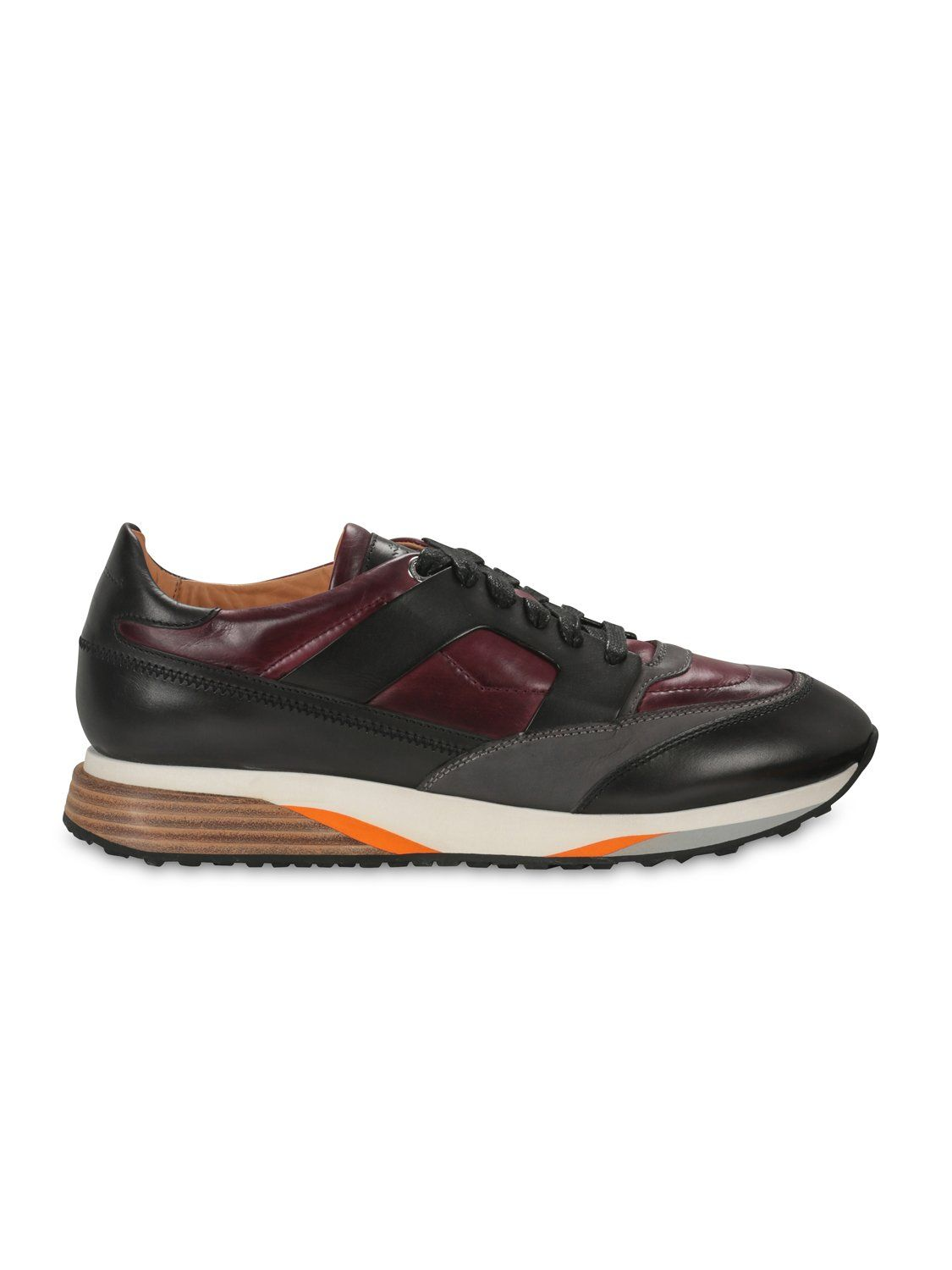 Santoni Dress Trainer (Maroon) UK 8.5 / EU 42