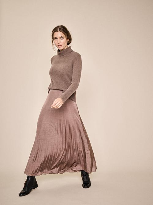 Mos Mosh Plisse Jersey skirt Chocolate Chip M