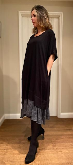 Coal Black Bamboo Dress S/M