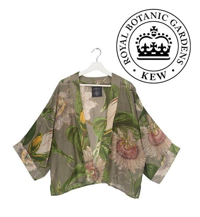 One Hundred Stars Passion Flower Stone Kimono
