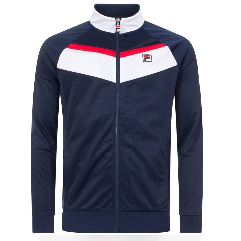 FILA Rudra Colour Block Track Top - Peacoat Small