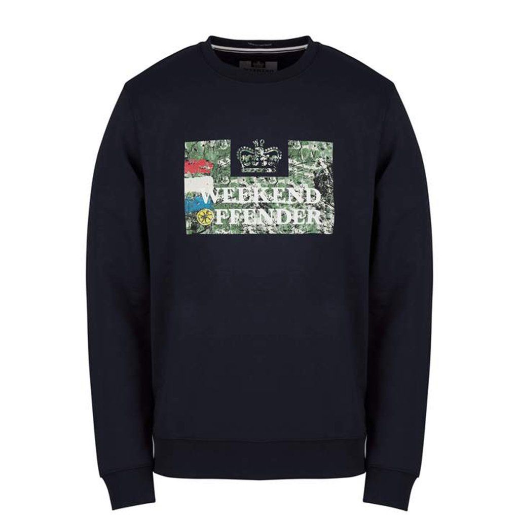 Weekend Offender Badman Sweat - Navy Small