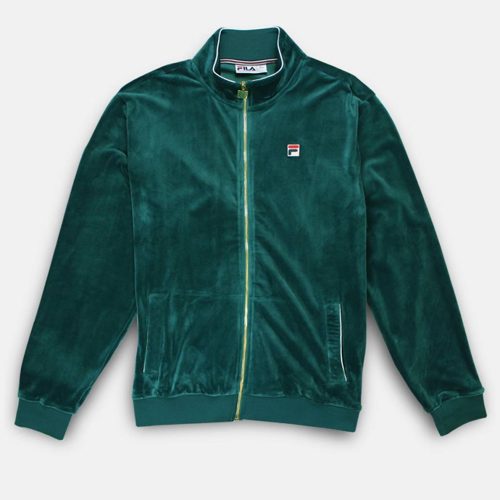 FILA Irving Velour Track Top - Storm Small