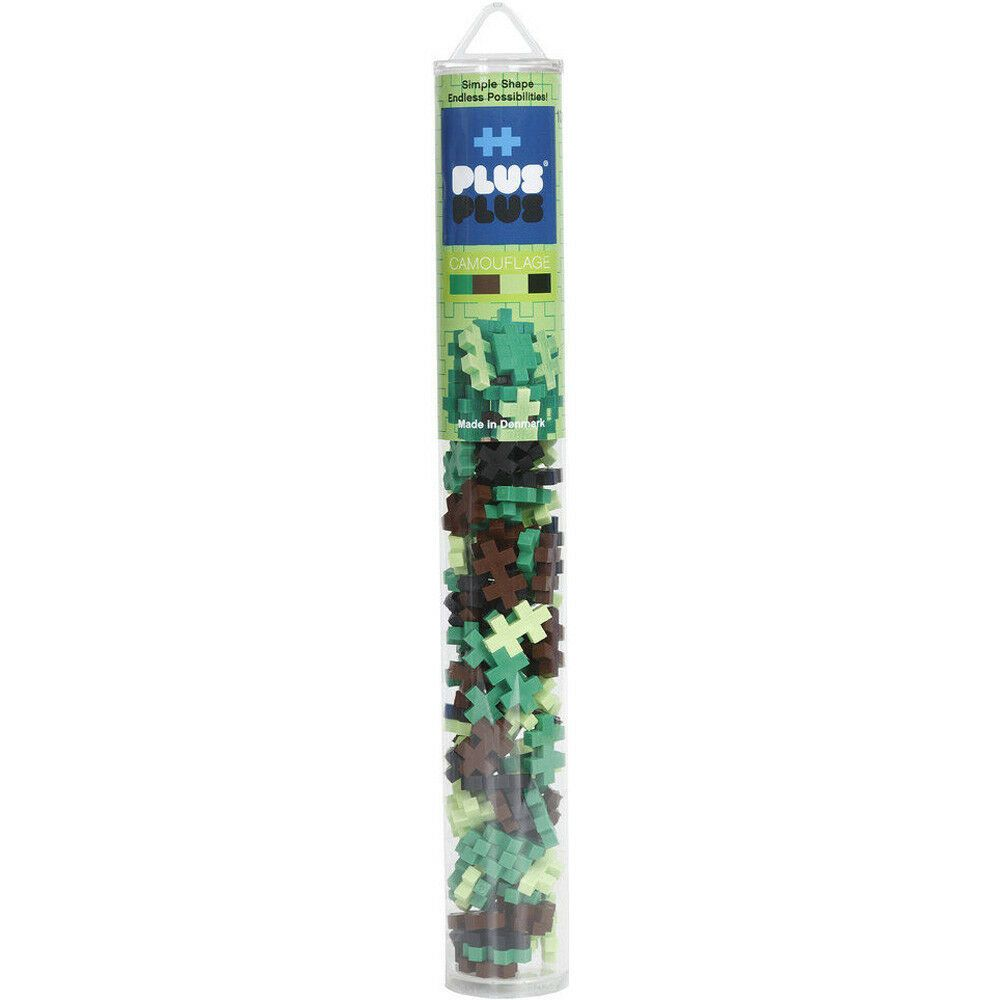 Plus Plus - Tubes - 100pcs/240pcs - Various Tubes To Choose - Made In Denmark, Select Tube: Camouf..