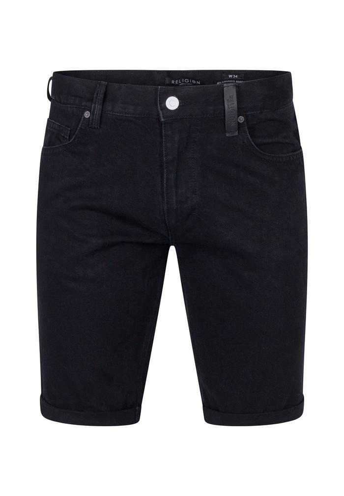 Blurred Denim Shorts Black 30W