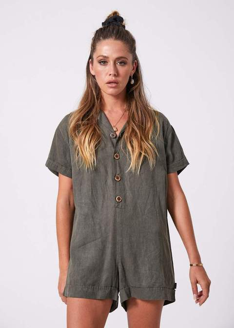 Kokomo Hemp Playsuit UK8
