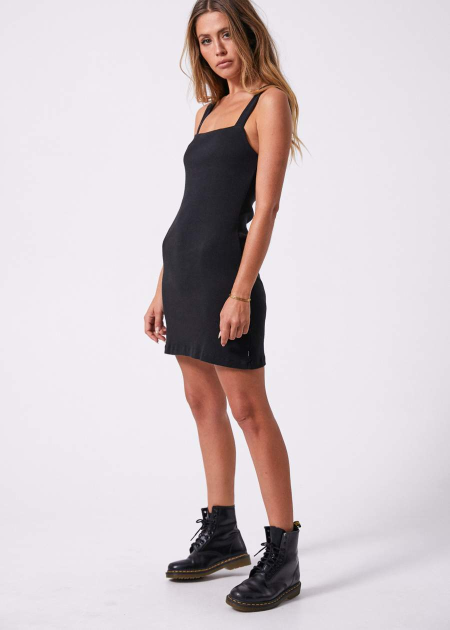 Helena Square Neck Dress BLACK UK14