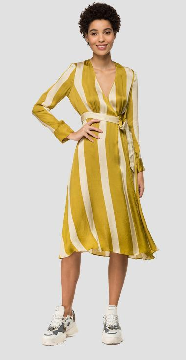 Striped Dress With Crossing Small