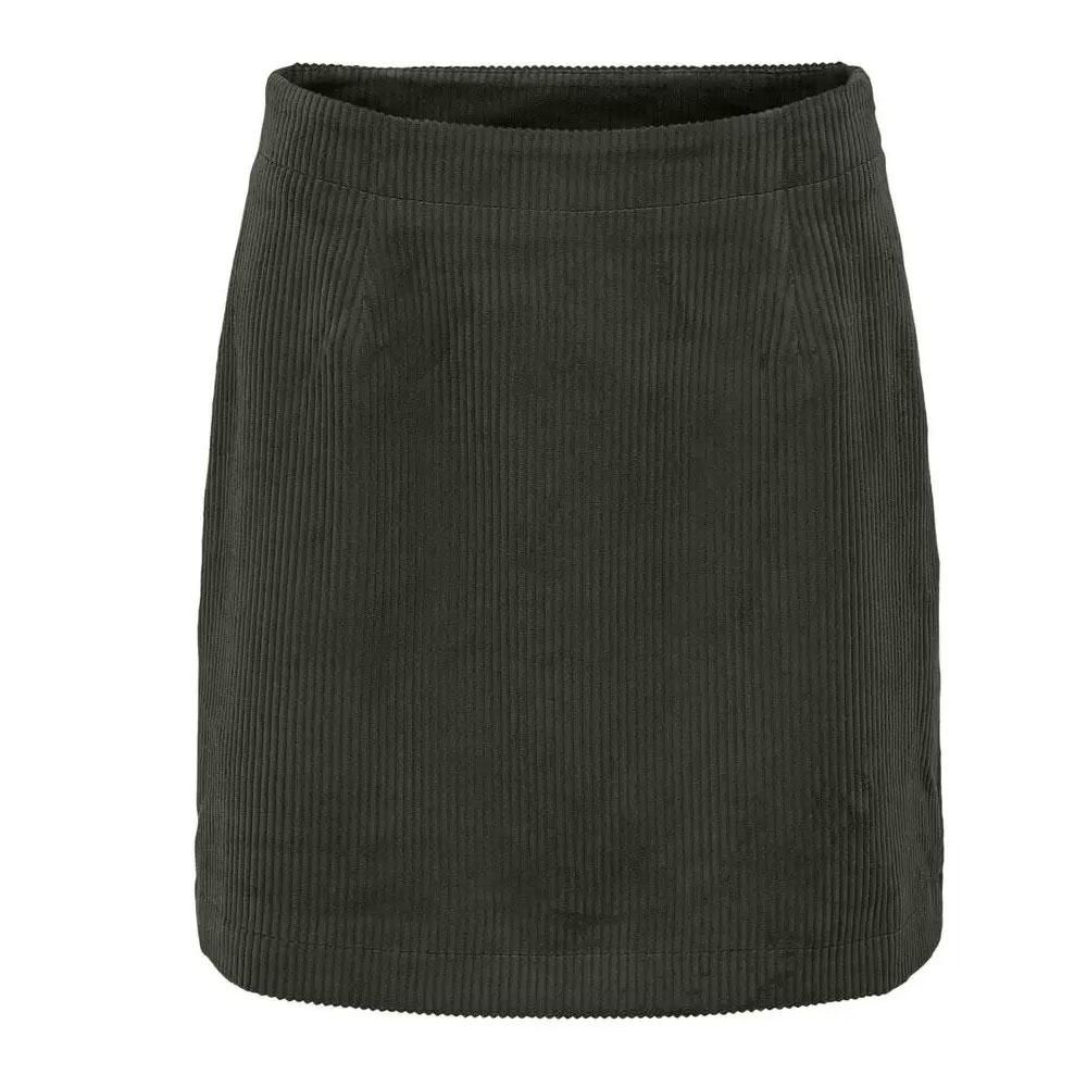 Only Terry Cord Skirt RHUBARD - M