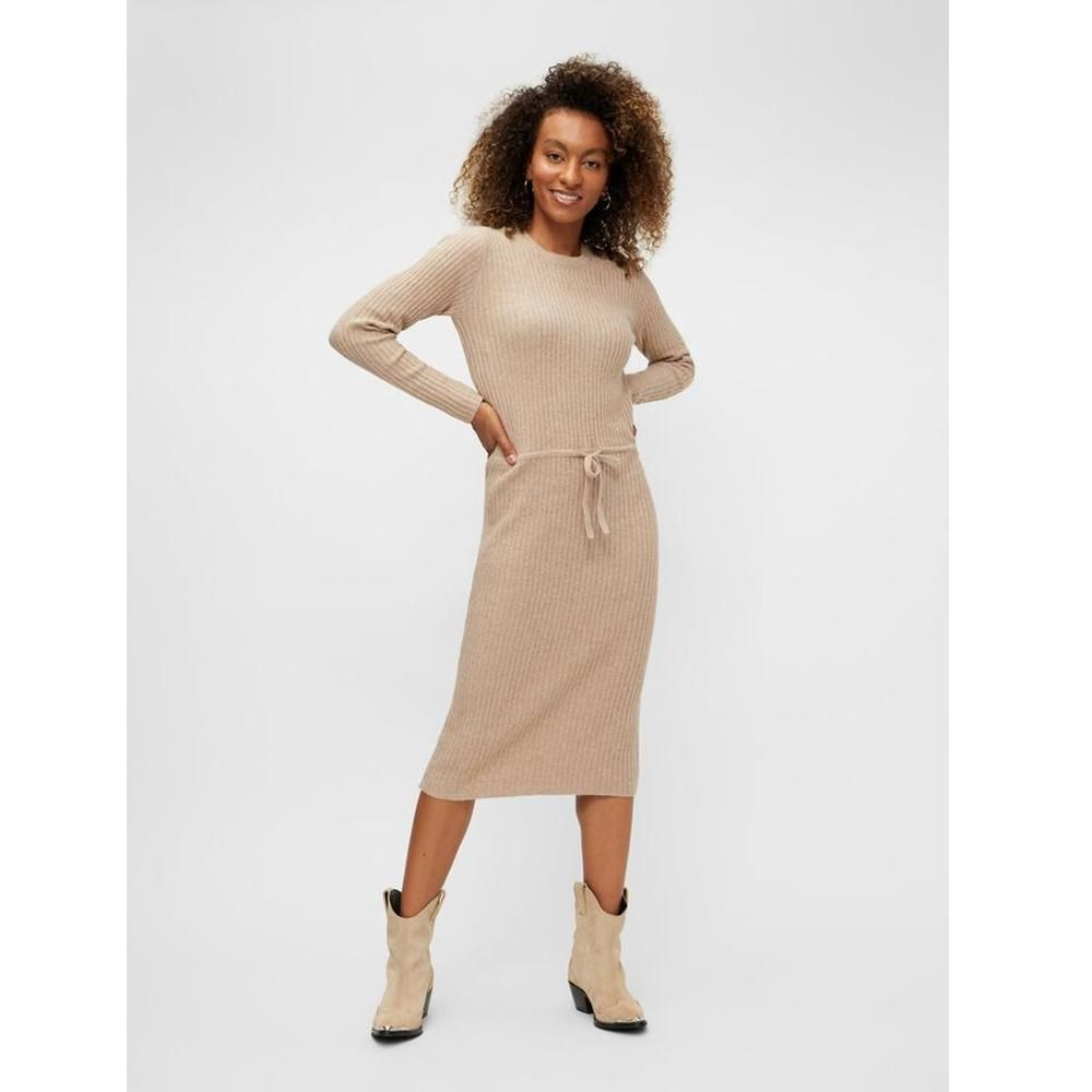 pieces suna knitted dress NATURAL - M