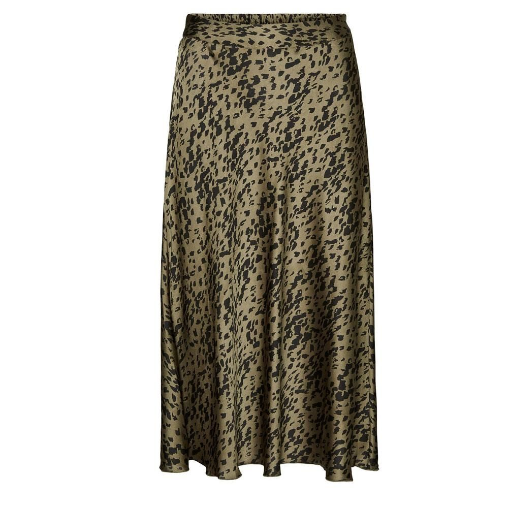 vero moda christas satin skirt BLK - L