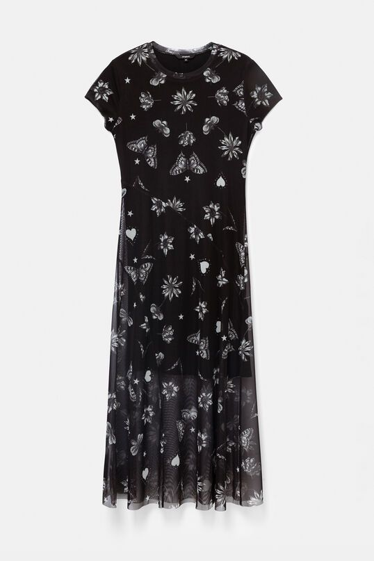 Desigual Austin Double Layer Tulle Dress - Black XS